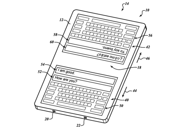 keyboard with real time translation feature