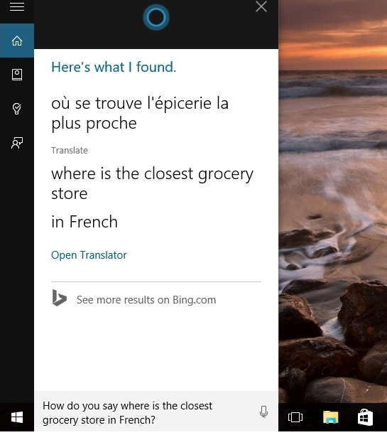 cortana instant translation