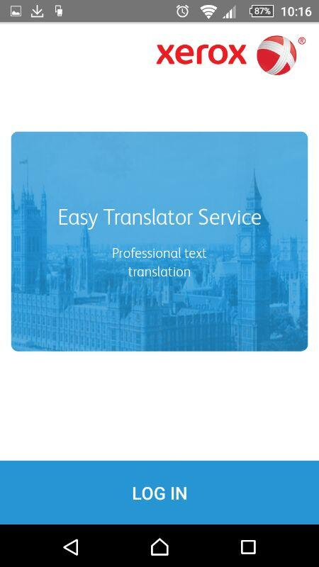 Easy translator app by Xerox